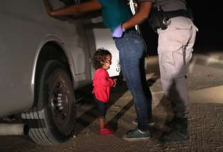 toddler at the border